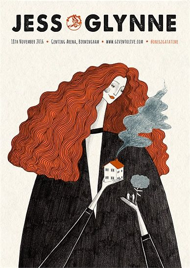 концерт, музыка плакат, группа афиша, тур плакат, певец, музыкант, красные, волосы, вьющиеся волосы, концептуальный