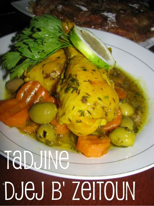 Algerian chicken with olives