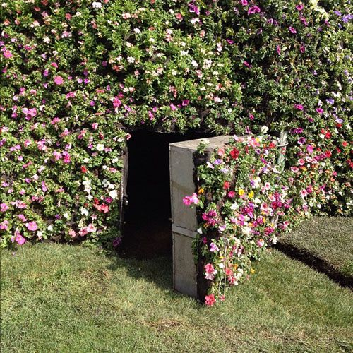 Wow! Could camouflage get any better than this? Garden with secret door. Secret…