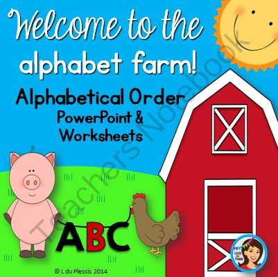 Alphabetical Order PowerPoint And Worksheets From Lindy Du Plessis On TeachersNotebook