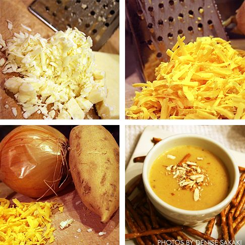 Wisconsin Beer Cheese-Cheddar Soup with Pretzels