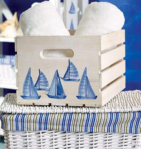 WALLIES SAILBOATS blue wall stickers 25 decals nautical decor sail scrapbook #Nautical