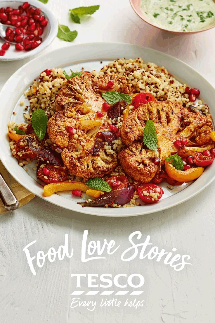 This vegetarian cauliflower steaks recipe from our Food Love Story is ready in under 30 minutes. Why not give it a go?   Tesco