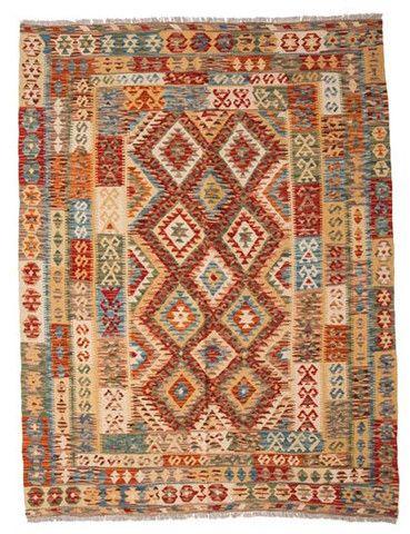 kilim - Kilim Afegão 201x155 cm.