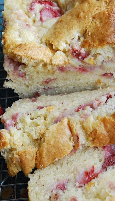 Strawberry Cream Cheese Bread sounds like the perfect dessert with a warm cup of coffee or tea! YUM!