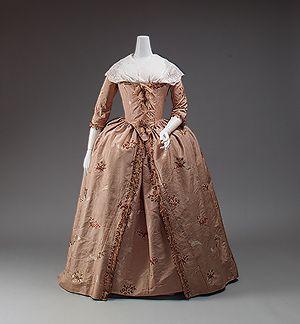 Robe à l'Anglaise XVIIIè siècle