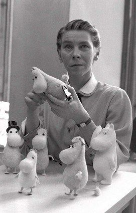 Tove Jansson. The creator of Moomin characters. Helsinki.  Even though she was a swede/finn I think Moomi's are one of the best finnish things ever. Design, caracter, story, moral and emotional appeal wise.