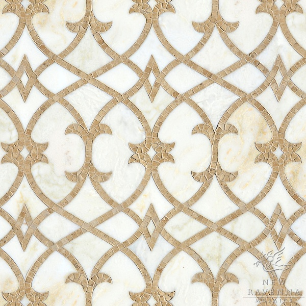 beautiful natural stone mosaic // Miraflores Collection by Paul Schatz for New Ravenna Mosaics