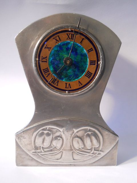 Archibald Knox for Liberty Pewter Clock (#0384)