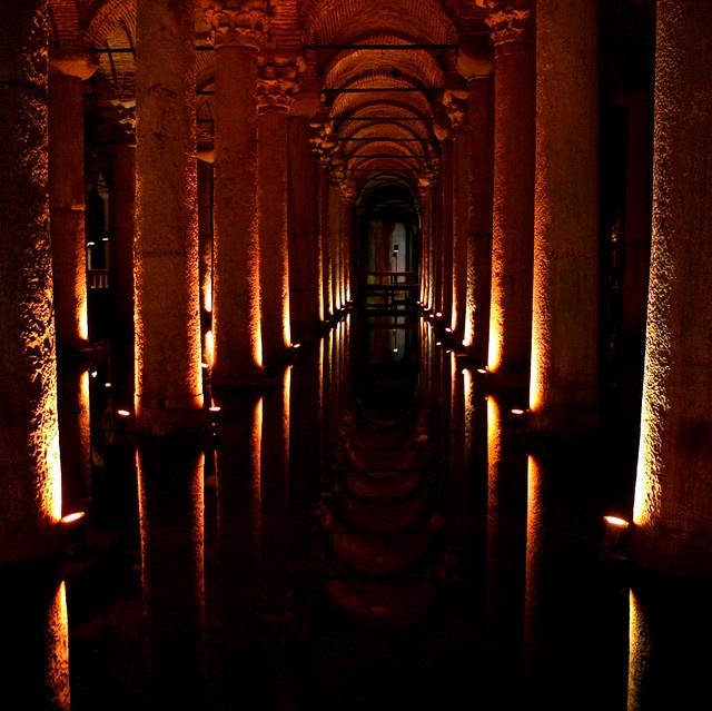 Basilica Cistern by echiner1, via Flickr