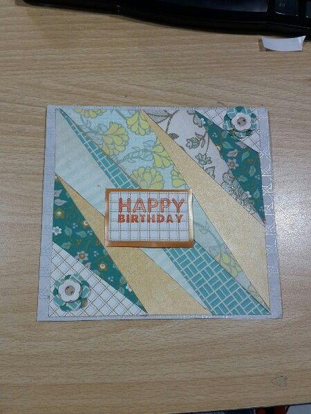 DIY simple birthday card