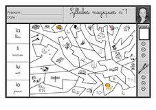 Coloriages magiques phono CP sons simples