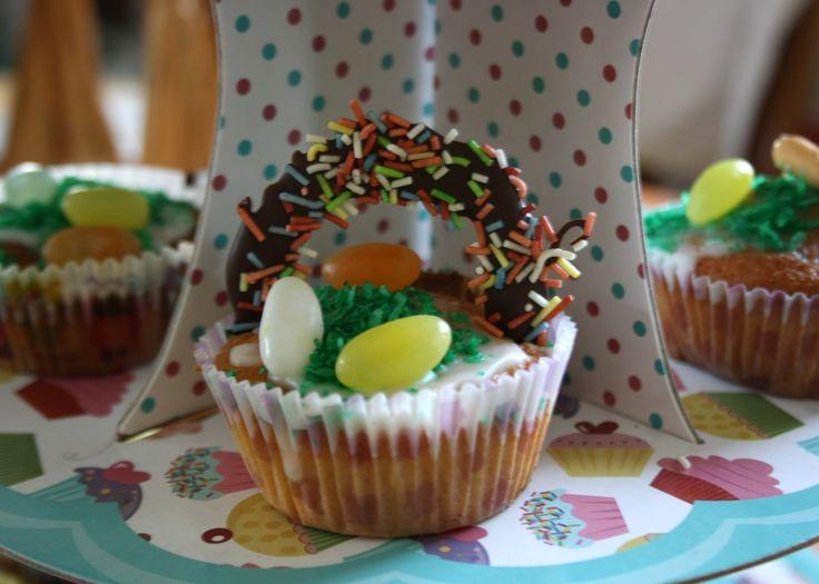 Easter basket cupcakes, Easter cupcake