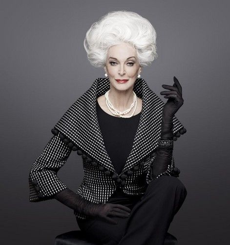 Carmen Dell'Orefice ~ 81 year old model walks the runway at New York Fashion Week. Fierce as fuck.