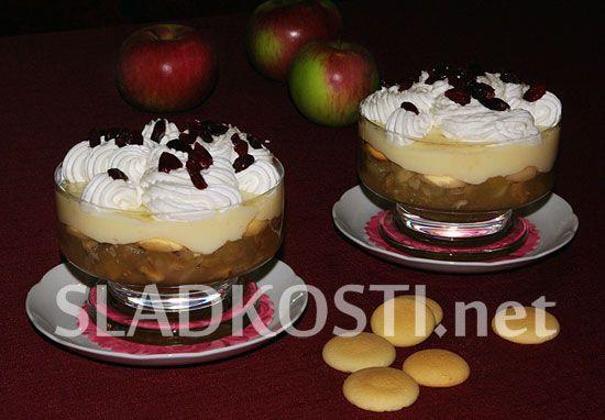Jablečné pyré s pudinkem