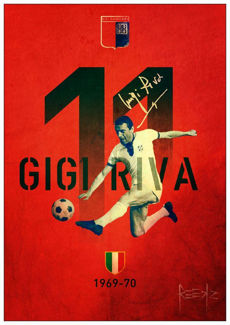 Gigi Riva Retroposter