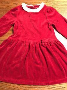 Gymboree Toddler Girls Size 5T Long Sleeve Velour Santa Dress    eBay