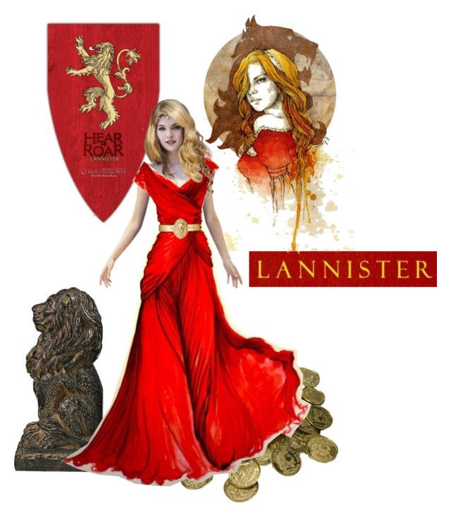 """""""The lion of Lannister"""" by ithiliel ❤ liked on Polyvore featuring art, castamere, the lion of lannister, the house lannister, kings landing, a song of ice and fire, game of thrones, tyrion, cercei and jaime"""