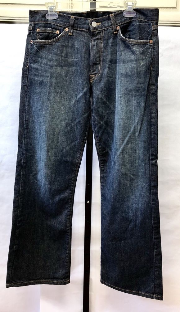 4a6e56bad22 Mens Lucky Brand 32 x 30 Western Bootleg Jeans Dark Wash Denim #LuckyBrand # BootCut