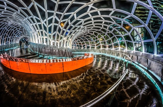 Webb Bridge, Docklands -  Melbourne compliments of Russell Charters on Google + at https://plus.google.com/b/100828554819196266106/118301432835918055404/posts/Eg2R78UuKKs