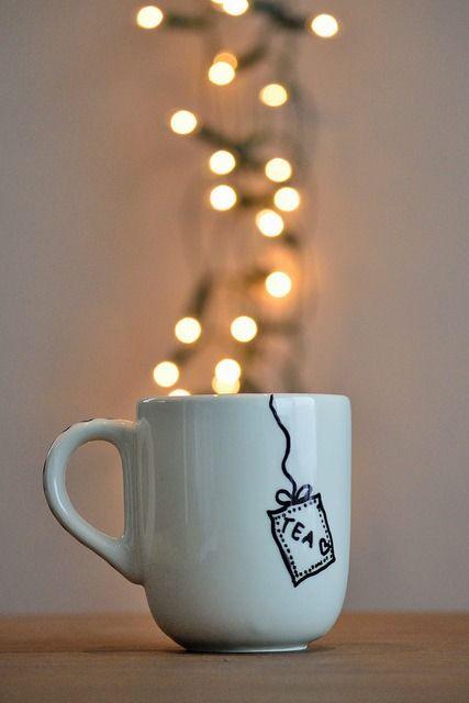 Tea Bag Mug With Hearts So Cute Wish I Could Find Where