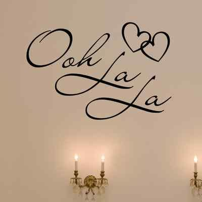 OOH LA LA Paris France Hearts Love Quote Vinyl Wall Decal Decor Art Sticker f  For my wall  Option 2