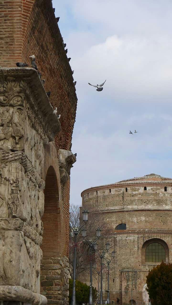 Thessaloniki, Rotonda and Arch of Galerius.