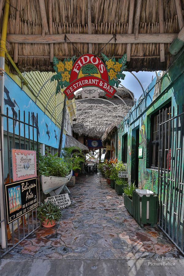 Entrance To Fidos Restaurant Bar San Pedro Ambergris Caye