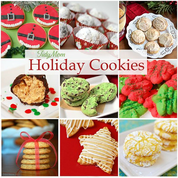 Favorite Holiday Cookies at TidyMom.net