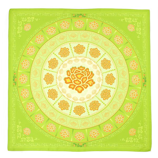 Ornate floral motifs bedeck this charming scarf, patterned with the stylish design of Shen Yun's Ladies of the Tang Dynasty Palace. Seasonless as it is elegant, this scarf glows in the vibrant hues of China's most auspicious age.