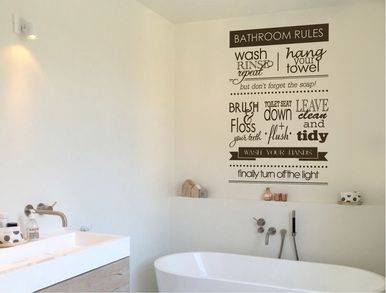 Buy This Quality Bathroom Rules Wall Sticker Decal. These Bathroom Decals  Are Easy To Apply Part 89