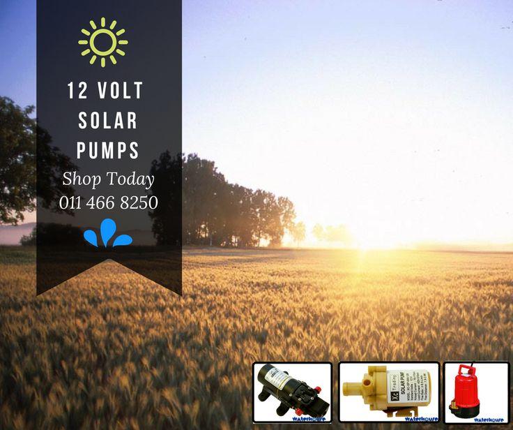 Full range of Solar 12 Volt Pumps.