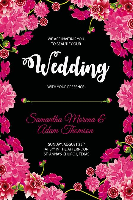 Wedding Free Poster Template Free PSD Flyers Free wedding, Free