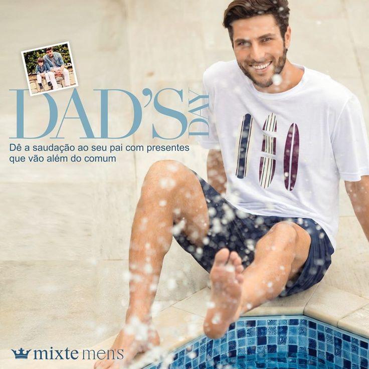 Já pensou em um presente para o papai? Ele também merece um último look do dia maravilhoso! No Pinterest: https://goo.gl/EDIADS #diadospais #fatherday #pijamasmasculinos #mens #estilo #homem