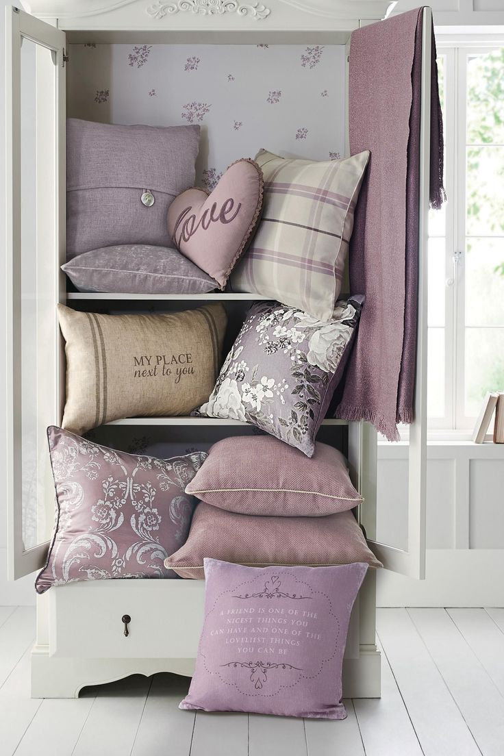 Mauve Love Heart Cushion from Next