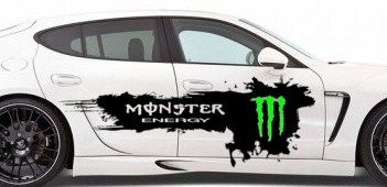 MONSTER ENERGY CAR DECAL FOR SIDE OF CAR You Get  L X H - Graphics for car