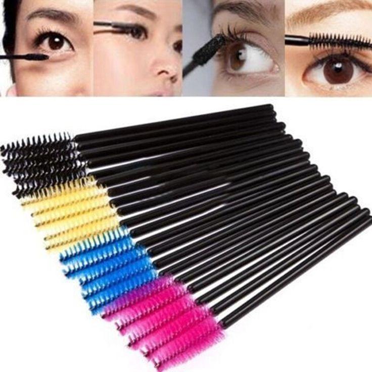 Many Colors for Choice 100pcs/lot Glad Lash Cosmetic Eyelash Extension Disposable Mascara Wand Brush Wands Applicator Lash Makeup Tools Contact me: Email:kateyin@superfar.cn What's App:+86 15192088516