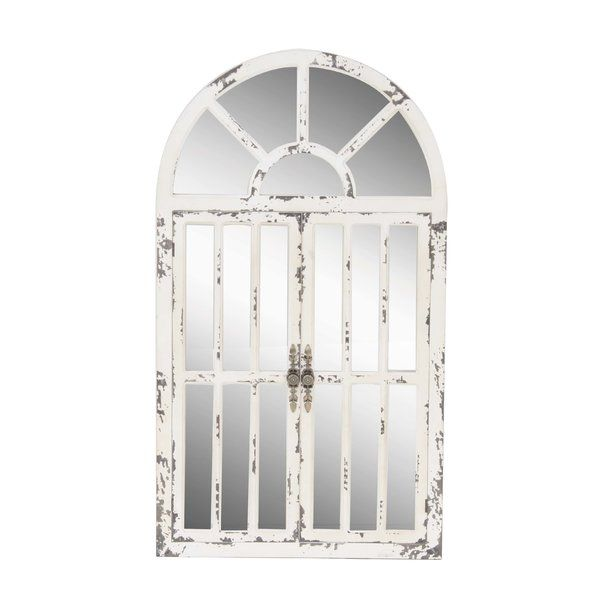 Traditional Distressed Wooden Mirrored Panel | Joss & Main