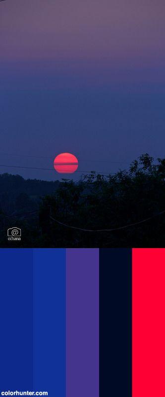 Setting Sun Color Scheme from colorhunter.com