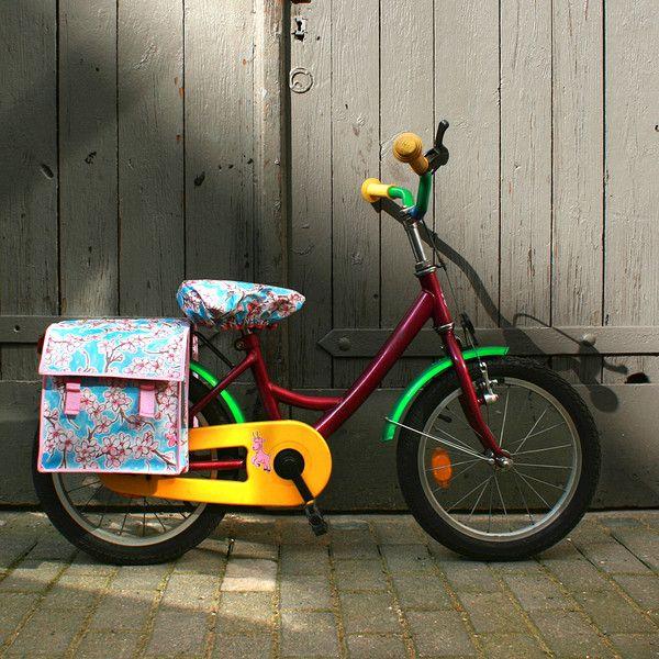 Weiteres - SET Kinderfahrradtasche und Sattelschoner Hanami - ein Designerstück von Ikuri bei DaWanda