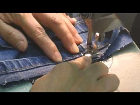 "Blue Jean Original Hem (the ""magic hem"")  This seems like a better option than the fold and sew hem that I usually see out there.  And this guy seems like he KNOWS what he's talking about!  =0)  WORD!"