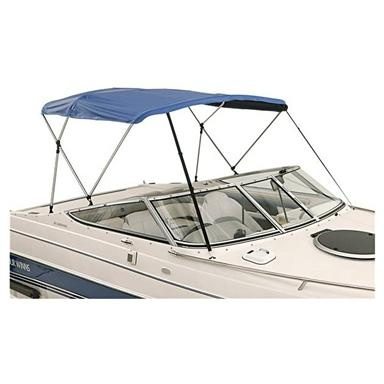 http://www.pontoonboatpartsandaccessories.com/pontoonboatbiminitops.php has some info on factors to take into consideration when its time to purchase a bimini top for a boat.