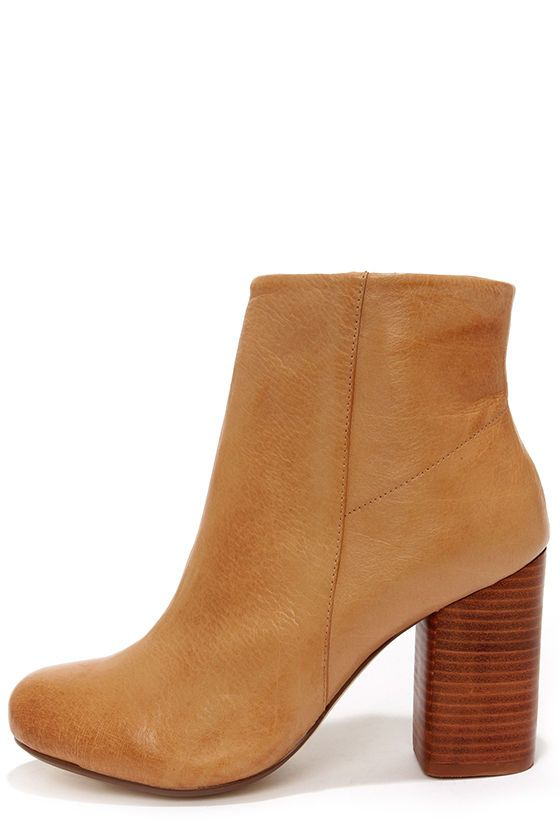 Chinese Laundry Battle Field Cognac Leather Booties