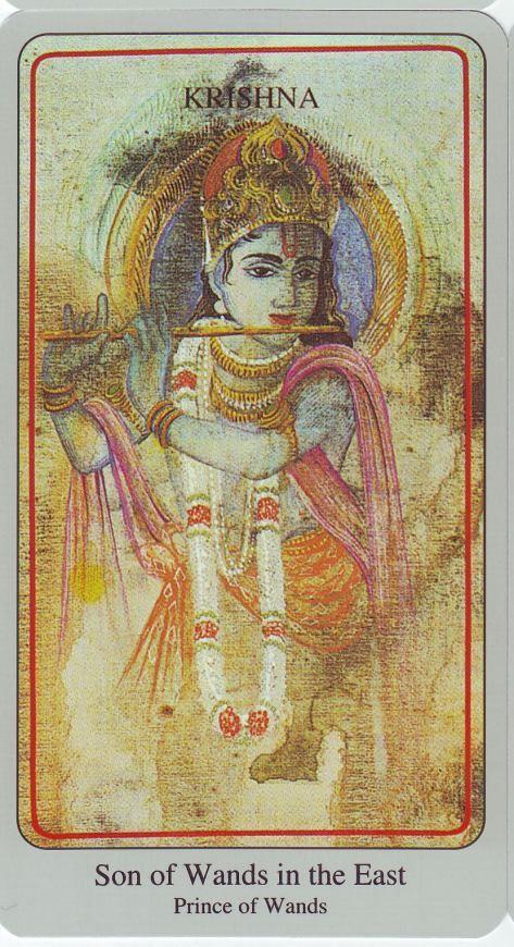 son of the wands tarot card (Krishna)