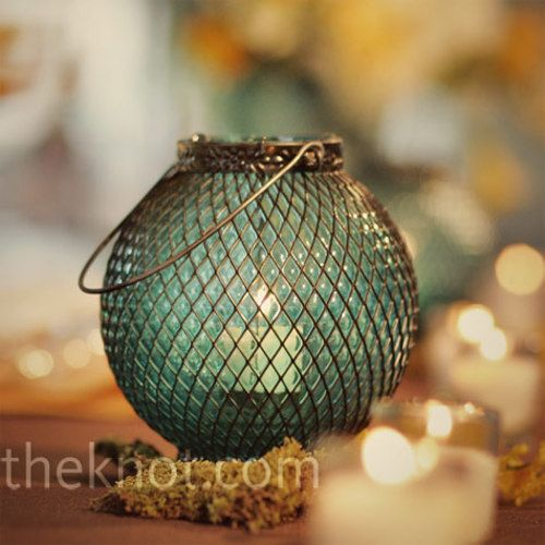 Rustic Wedding Lighting - spring wedding table ideas. Theknot.com.au