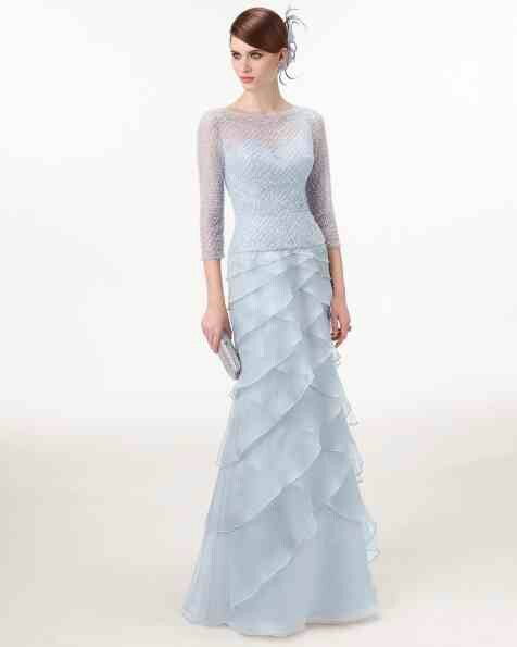 LOVE this icey blue gown from the Cocktail Collection 2015. The feminine details of the skirt give a light, airy look. Stunning! Aire Barcelona