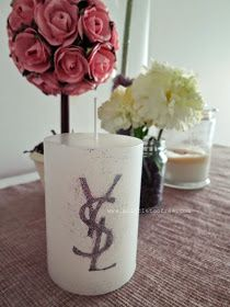 a little too free : DIY Decorative Candle with YSL Logo