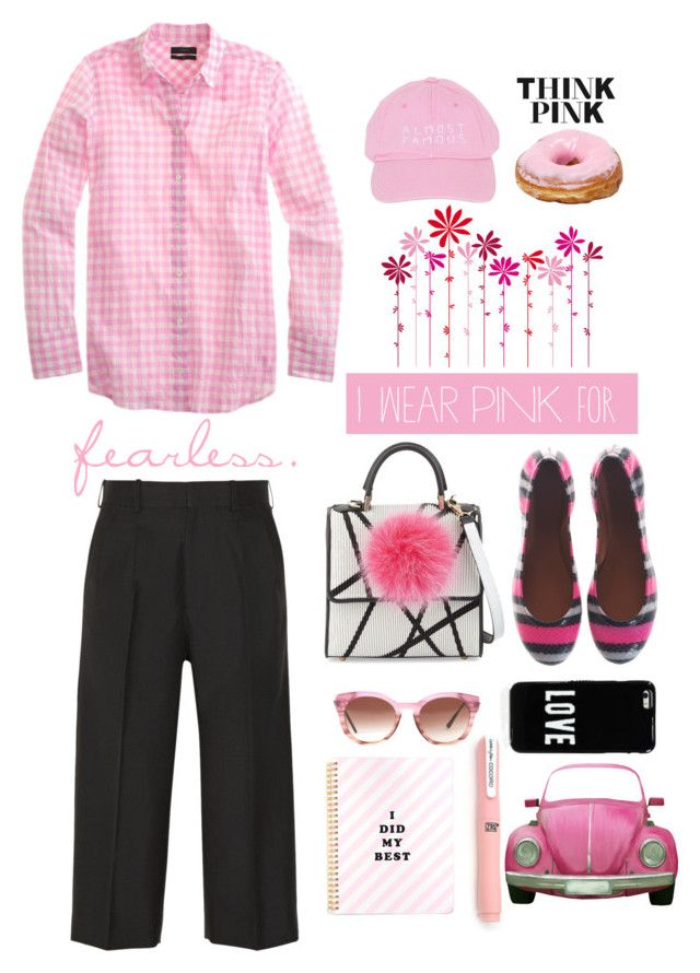 """""""Think Pink"""" by youaresofashion ❤ liked on Polyvore featuring Gooey, DOMESTIC, Marc by Marc Jacobs, Les Petits Joueurs, Victoria Beckham, Thierry Lasry, Givenchy, Nasaseasons and IWearPinkFor"""