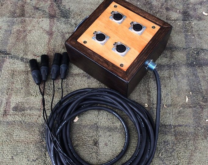 4Channel Audio XLR Snake with Mogami wire and Wooden