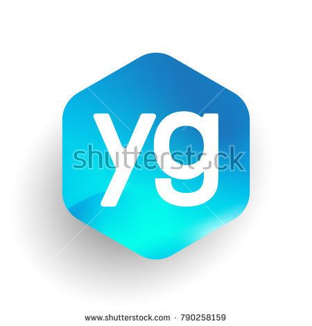 Letter YG logo in hexagon shape and colorful background, letter combination logo design for business and company identity.